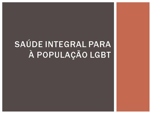 Curso Online de SAÚDE INTEGRAL À POPULAÇÃO LGBT