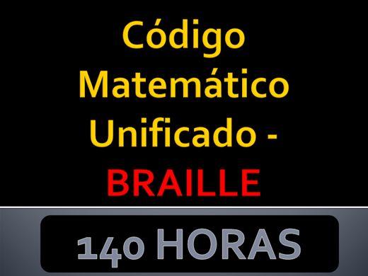 Curso Online de Código Matemático Unificado – BRAILLE