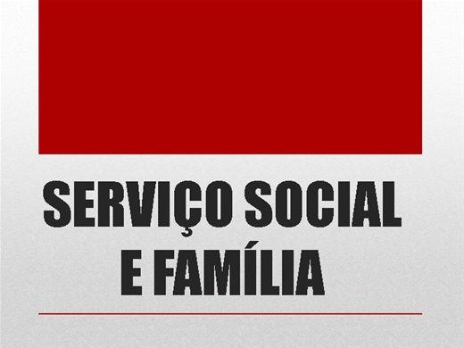 Curso Online de SERVIÇO SOCIAL E FAMÍLIA