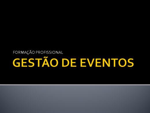 Curso Online de GESTÃO DE EVENTOS