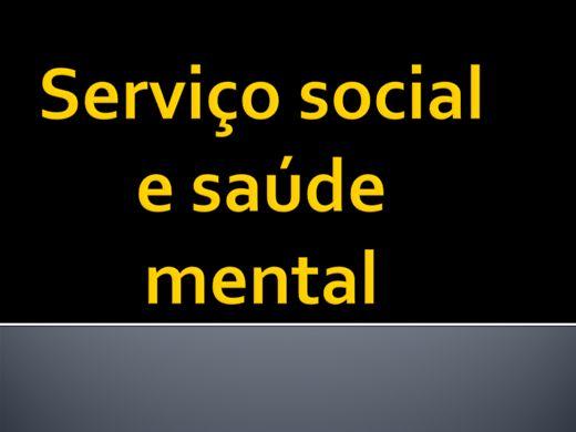 Curso Online de SERVIÇO SOCIAL E SAÚDE MENTAL