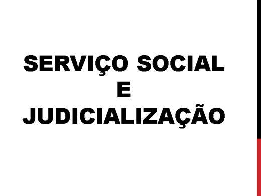 Curso Online de SERVIÇO SOCIAL E A JUDICIALIZAÇÃO