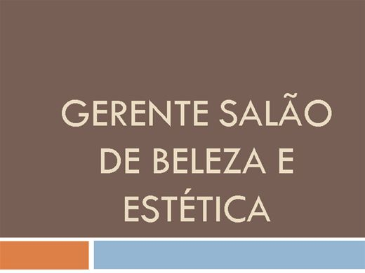 Curso Online de GERENTE SALÃO DE BELEZA E ESTÉTICA