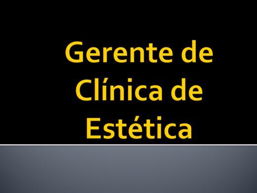 Curso Online de GESTÃO DE CLÍNICA DE ESTÉTICA