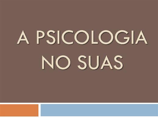 Curso Online de A PSICOLOGIA NO SUAS