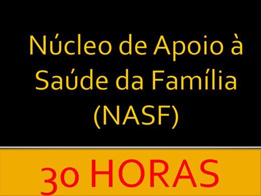 Curso Online de  Núcleo de Apoio à Saúde da Família (NASF)