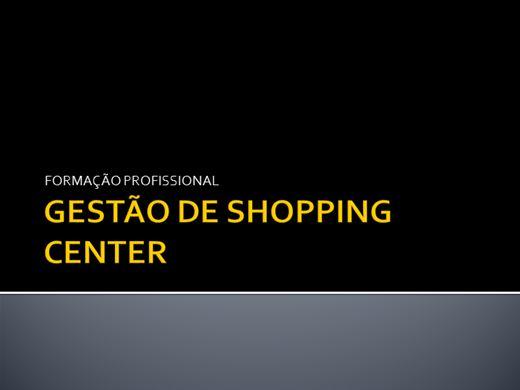 Curso Online de GESTÃO DE SHOPPING CENTER