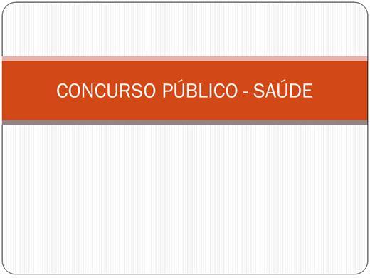 Curso Online de CONCURSO PÚBLICO SAÚDE