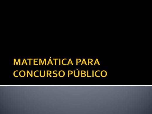 Curso Online de MATEMÁTICA PARA CONCURSO PÚBLICO