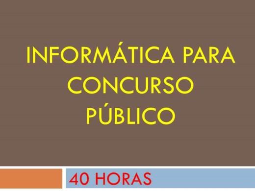 Curso Online de INFORMÁTICA PARA CONCURSO PÚBLICO