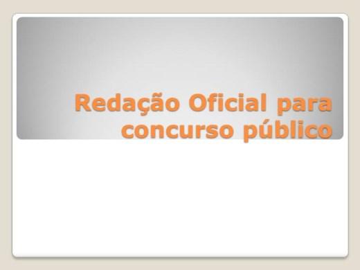 Curso Online de REDAÇÃO OFICIAL PARA CONCURSO PÚBLICO