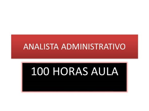 Curso Online de ANALISTA ADMINISTRATIVO