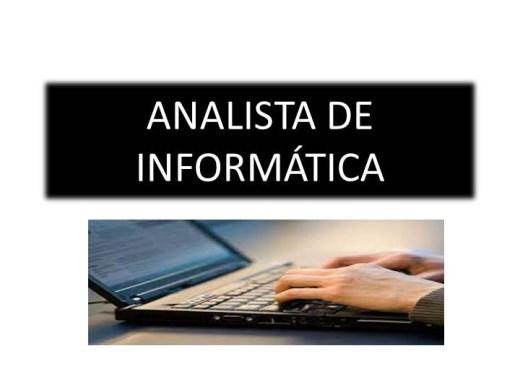 Curso Online de ANALISTA DE INFORMÁTICA