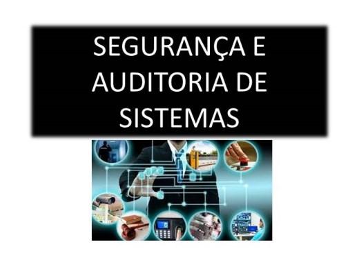 Curso Online de SEGURANÇA E AUDITORIA DE SISTEMAS