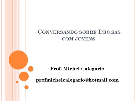 Curso Online de Conversando sobre Drogas com jovens