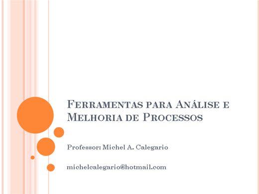 Curso Online de Ferramentas para Análise e Melhoria de Processos