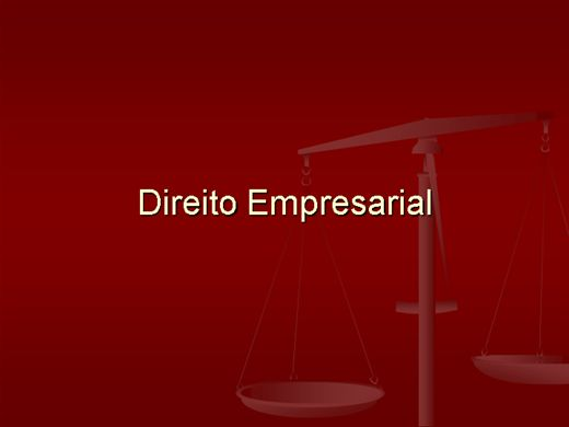 Curso Online de DIREITO EMPRESARIAL