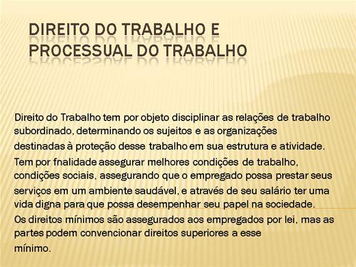 Curso Online de DIREITO DO TRABALHO E PROCESSUAL DO TRABALHO