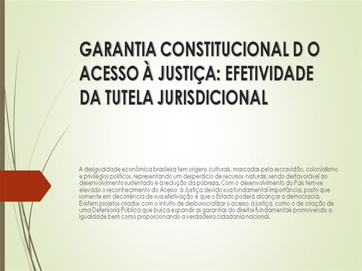 Curso Online de GARANTIA CONSTITUCIONAL D O ACESSO À JUSTIÇA