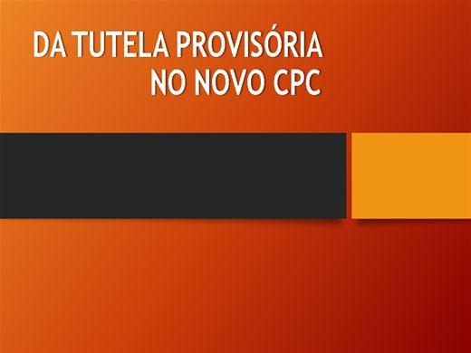 Curso Online de DA TUTELA PROVISÓRIA NO NOVO CPC