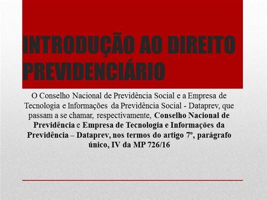 Curso Online de INTRODUÇÃO AO DIREITO PREVIDENCIÁRIO