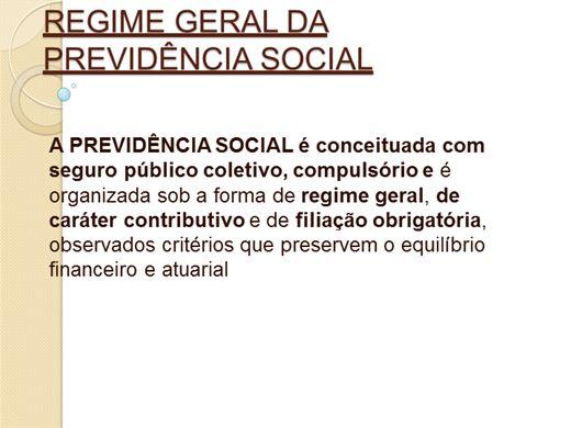 Curso Online de REGIME GERAL DA PREVIDÊNCIA SOCIAL