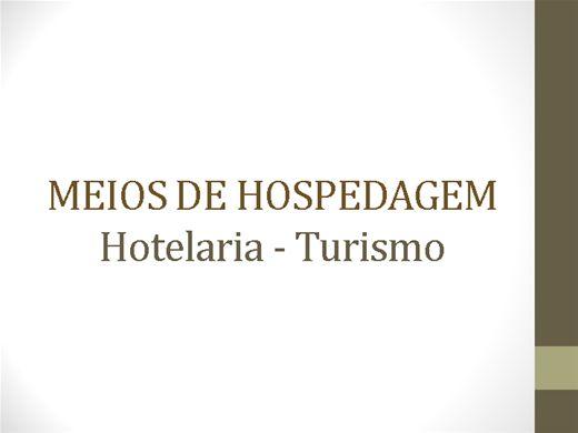 Curso Online de Hotelaria - Meios de hospedagem