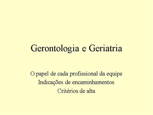 Curso Online de Geriatria e Gerontologia