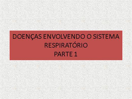 Curso Online de DOENÇAS RELACIONADAS AO SISTEMA RESPIRATÓRIO - PARTE  1