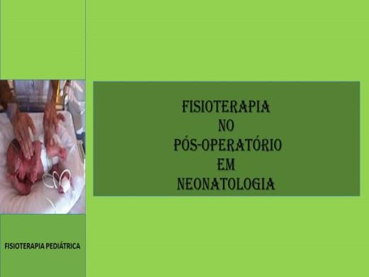 Curso Online de FISIOTERAPIA NO PÓS-OPERATÓRIO EM NEONATOLOGIA