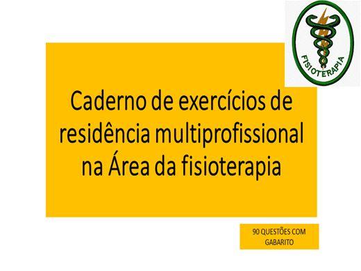 Curso Online de Caderno de exercícios de residência multiprofissional na Área da fisioterapia