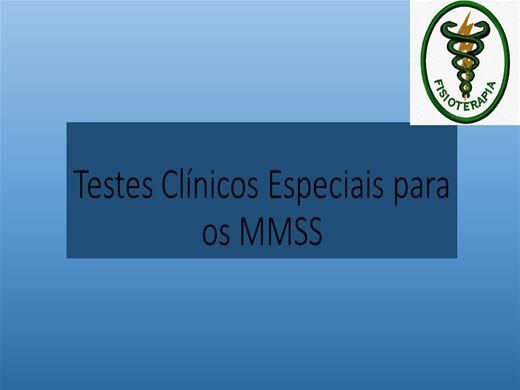 Curso Online de TESTES CLÍNICOS ESPECIAIS PARA MMSS