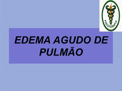 Curso Online de EDEMA AGUDO DE PULMÃO