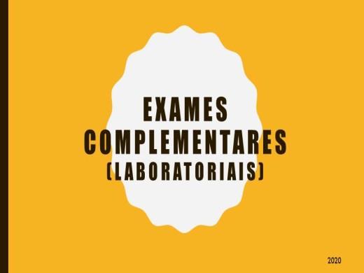 Curso Online de ANALISE DOS EXAMES COMPLEMENTARES (LABORATORIAIS)