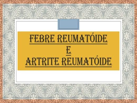 Curso Online de FEBRE REUMATÓIDE E ARTRITE REUMATÓIDE