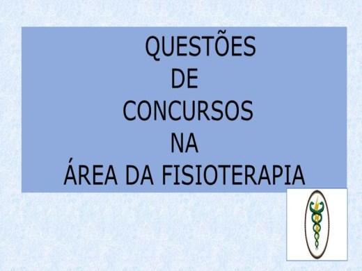 Curso Online de QUESTÕES DE CONCURSOS NA ÁREA DA FISIOTERAPIA