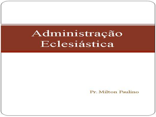 Curso Online de Administração e54clesiástica