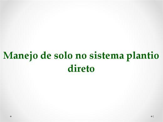 Curso Online de Manejo do Solo no  Sistema de Plantio Direto (SPD)