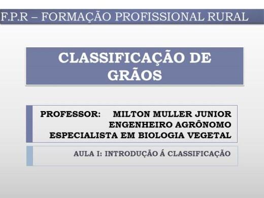 Curso Online de Classificação de  Grãos (Soja e Milho)