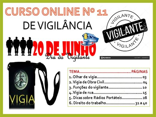 Curso Online de VIGILÂNCIA