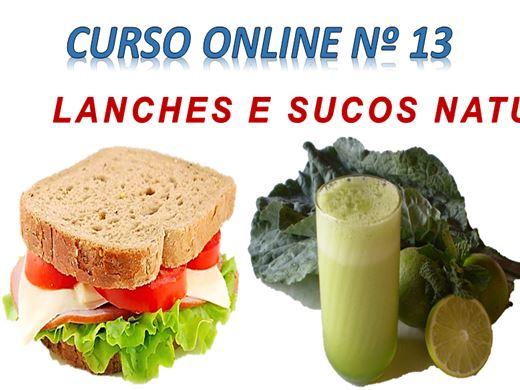Curso Online de LANCHES E SUCOS NATURAIS