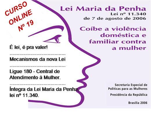Curso Online de  LEI Nº 11.340  MARIA DA PENHA