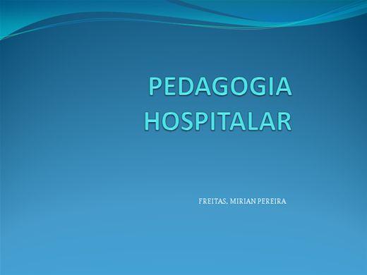 Curso Online de PEDAGOGIA HOSPITALAR