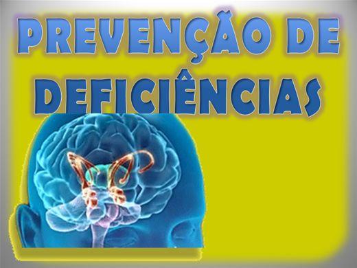Curso Online de PREVENÇÃO DE DEFICIÊNCIAS