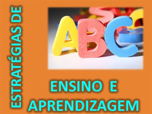 Curso Online de ESTRATÉGIAS DE ENSINO E APRENDIZAGEM / JOGOS PARA CRIANÇAS