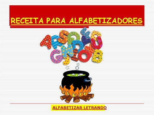 Curso Online de RECEITA PARA ALFABETIZADORES