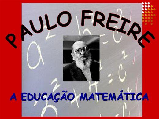 """Curso Online de """"A educação matemática de Paulo Freire"""""""
