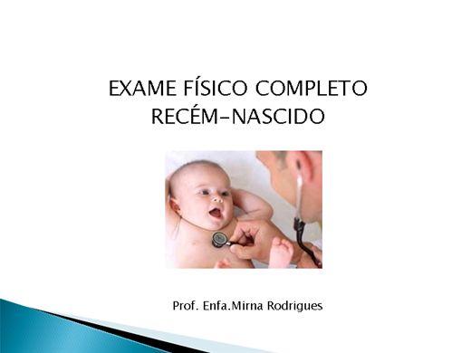 Curso Online de Exame Físico Completo do Recém-Nascido