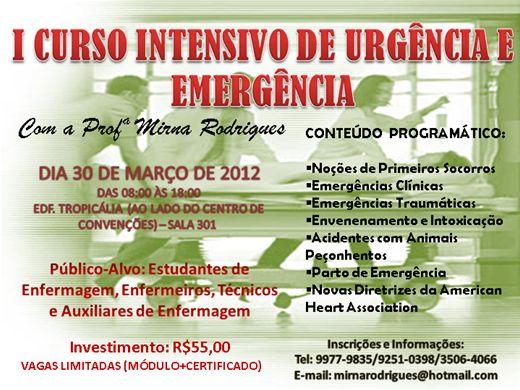 Curso Online de CURSO INTENSIVO DE URGÊNCIA E EMERGÊNCIA