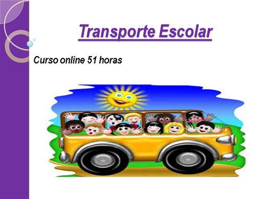 Curso para transporte escolar sp